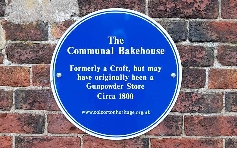 Coleorton Communal Bakehouse plaque